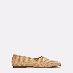 Zara Woman Braided Raffia Slip On Shoes US 10